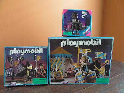 Playmobil Joust Tournament Tent Horse Black Dragon Knight Toy Set 3654 3669 4517