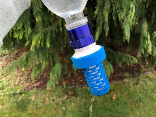 Backflush Adapter for Katadyn BeFree Water Filter (3D Printed)