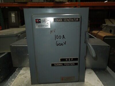 Cutler-hammer 4162h333 100a 600vac Double Throw Non Fused Manual Transfer Switch