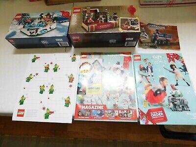 LEGO 40416 + 40410 +30575 Skating Rink Charles Dickens Train Christmas Gift Tags