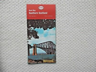 ESSO Road Map of SOUTHERN SCOTLAND number 6 dated 1963 new old stock