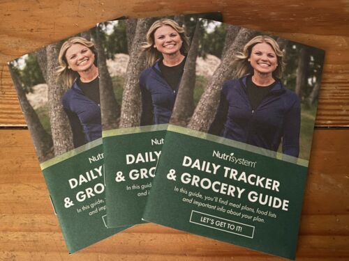 Set of (3) Nutrisystem Daily Tracker & Grocery Guide Booklets Sept 2018