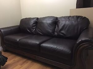 Leather sofa  heritage made. $500 OBO