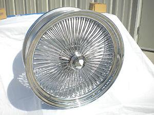 "Lowrider Rims And Tires >> 15"" Inch Chrome Wire wheels New Set 4 Dayton Style 100 Spoke rims Lowrider wheel | eBay"
