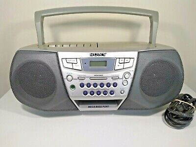 Sony CFD-S22 AM/FM Boombox CD Player Tape Cassette Player Recorder Fully Tested