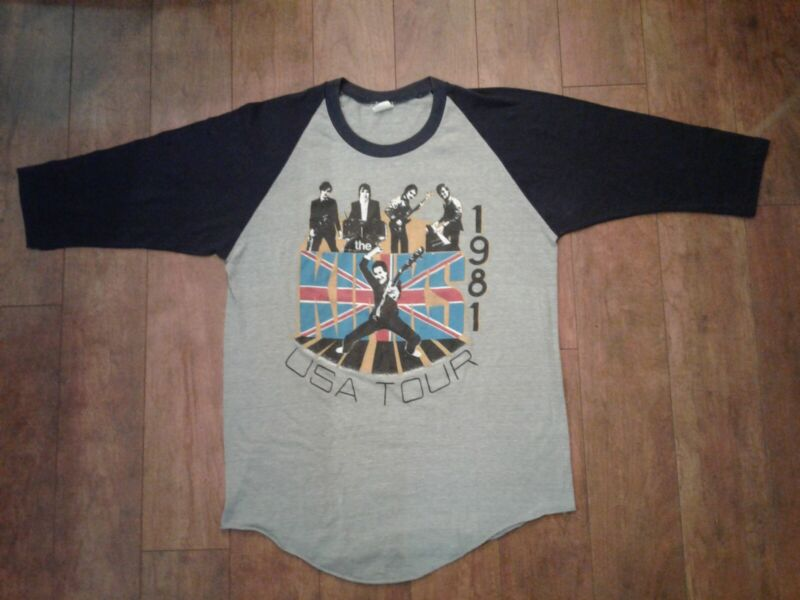 The Kinks 1981 Give The People What They Want USA Tour Concert Shirt Size Large