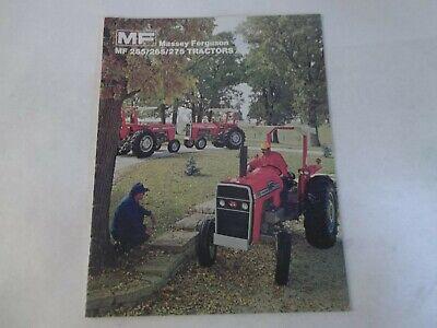 Massey Ferguson Models Mf 255 265 275 Tractor Brochure