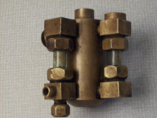 Detroit lubricator 1/3 pint oil injector, brass, steam, hit and miss