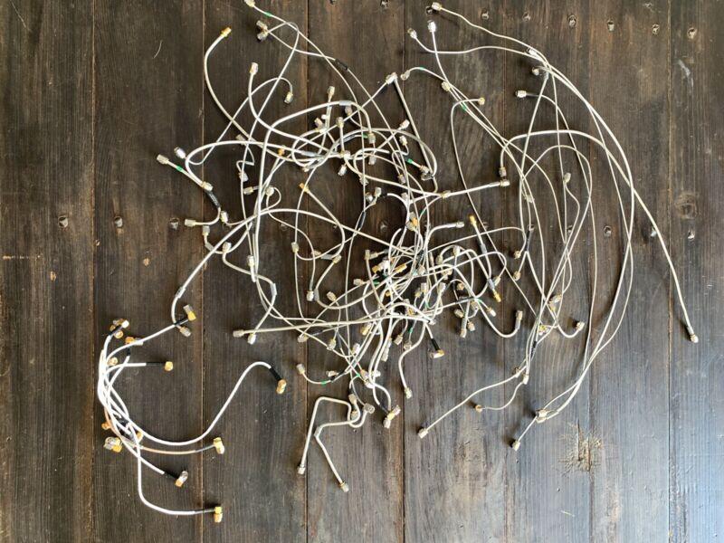 "RF Jumper cable lot 2-20"" SMA Male to Male Semi Rigid hardline 77 pieces"