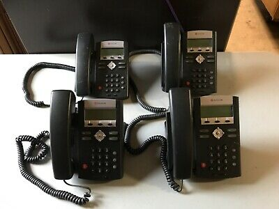 Polycom Soundpoint Ip 331 Voip Business Phone W Base Lot Of 4