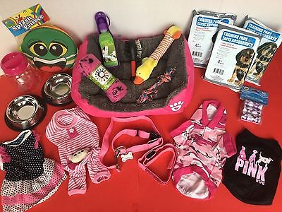 Small Girl Puppy Dog Starter Everything Bed Clothes Bowl Collar Leash Toy Female