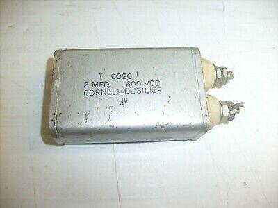 Capacitor 2 Mfd 600vdc Oil Hermetically Sealed Capacitor Cornell Dubilier