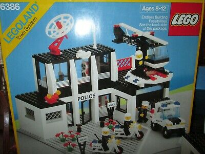 LEGO Vintage Town Police Command Base (6386) with box and instructions
