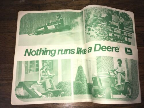 Vintage John Deere Nothing Runs Like A Deere Advertisement Poster, 18.5x13.5""