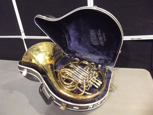 Double French Horn CG Conn ~Tested!~Vincent Bach 10 Mouth Piece~W/Case S2870x