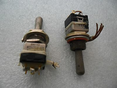 3x Aircraft Eaton 8869k2 Miniature Toggle Switch Ms90311-271 Mom. On-off -mom On