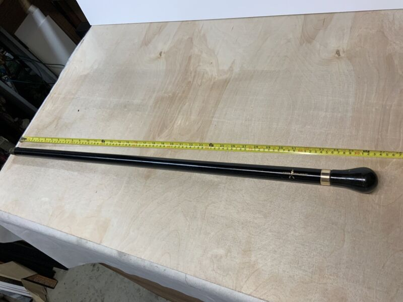 "Vintage Rare Johnnie Walker Keep Walking Cane Walking Stick Black 36-37"""