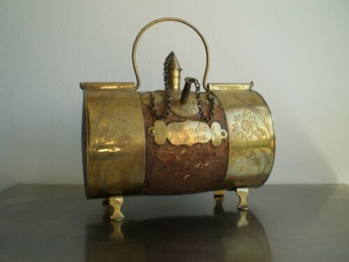 Jug Can Water Popular Art Brass Cork Catalan Deco Farmer Countryside