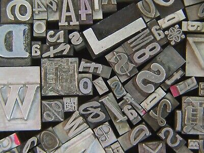 Mixed Metal Type - Letterpress From The 50s Era 23