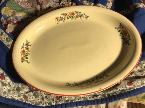 Homer Laughlin Oven Serve Floral Platter-1930s - $7.99