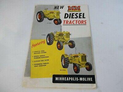 1965 Minneapolis Moline Diesel Tractors Sales Brochure Ub U Gb Z Zb Bf Bg