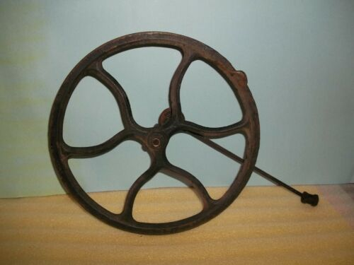 Treadle Sewing Machine Cast Iron FlyWheel with metal pitman arm