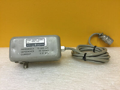Hp 343a 10 To 600 Mhz 50 Ohms 3.31 Ma Bnc F Vhf Noise Source. Tested