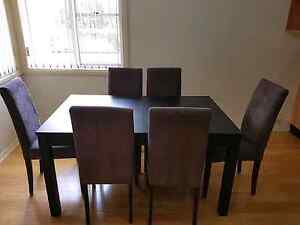 Chairs and Dining setting.. 6 seater and extendable table Campbelltown Campbelltown Area Preview