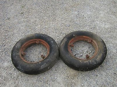 Farmall 300 350 400 Sm 450 Mta Tractor Ih Front 5.90x15 Tires Rims Lke Nw