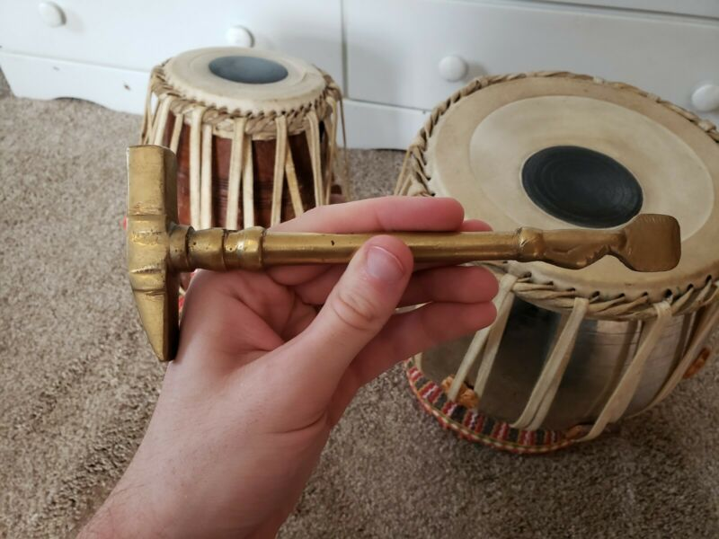 Traditional Indian Tabla Drum Set, Good Condition