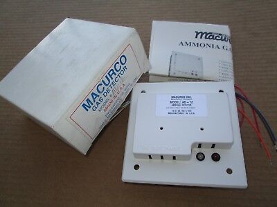 Macurco Ad-12 Fixed Gas Ammonia Detector 1224vacdc