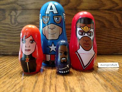 Black Widow Secret (Marvel Hidden Heroes Nesting Dolls Captain America Falcon Black Widow Nick)