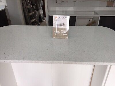 White  Sparkle  Quartz Kitchen worktop| Affordable price | scratch Resistant