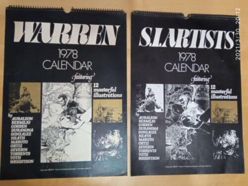 S.I. ARTISTS 1978 Warren Calendar