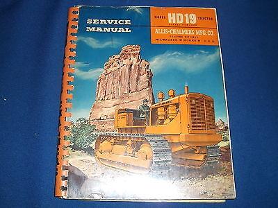 Allis Chalmers Hd19 Dozer Tractor Service Shop Workshop Repair Book Manual