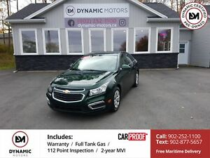 2015 Chevrolet Cruze 1LT NEW TIRES!! OWN FOR $103 B/W, 0 DOWN...