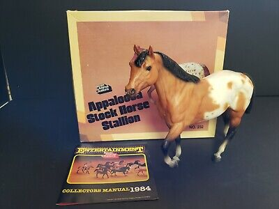 Vintage Breyer Appaloosa toy horse #232 with original box, and Collectors Book