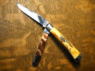 Case XX 10 Dot USA 5254 Trapper Knife   beautiful Fat India Sambar Stag 1970
