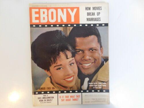 SEP 1965 EBONY MAGAZINE SIDNEY POTTIER DIHANN CARROLL CIVIL RIGHTS & EDUCATION