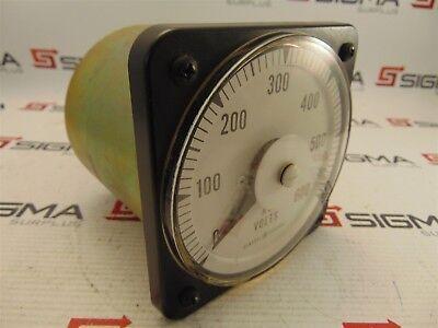 Yokogawa 103021pzsj7 Voltmeter 0-600 Vac 5060 Hz