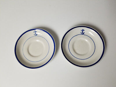 Vintage Plates saucer Anchor Tepco USA lot of 2