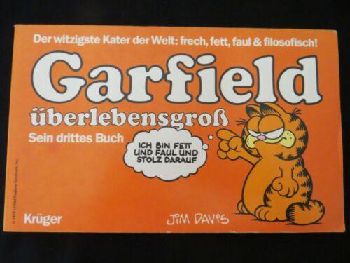Garfield Bigger than Life Garfield überlebensgroß  Jim Davis PB  1985 Scarce EUC