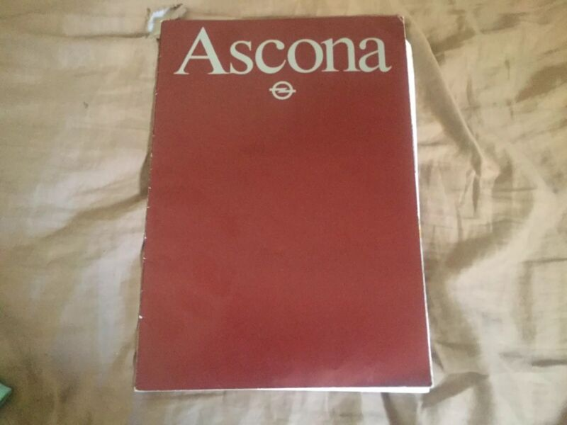 1988 Opel Ascona German Market Brochure Catalog Prospekt