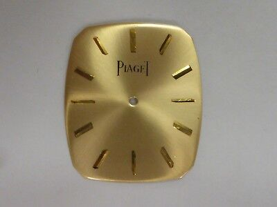 PIAGET 9P Gold Dial, 18K Solid Gold, 28.70X24.50mm 2.6gr. See Pictures