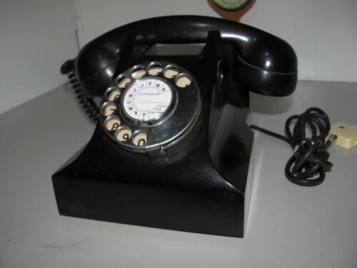 Vintage Black Bakelite PMG S.1/401 AWA 62 Rotary Dial Telephone Tested & Working