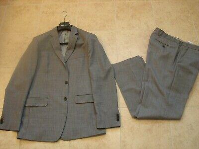 Men's Banana Republic Tailored Slim Solid Italian Wool Suit Gray Size 42 L  Italian Men Suits