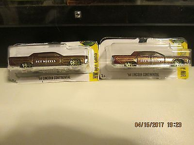 2-2017 HOT WHEELS HW ART CARS '64 LINCOLN CONTINENTAL BROWN LOOSE 15/365  (W)