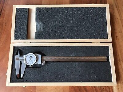 Tesa Brown Sharpe 599-579-8-1 8 Dial Caliper White Face Wood Case