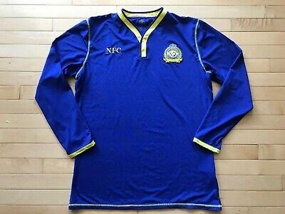 Al Nassr FC Saudi Arabian Blue Jersey Football Soccer Mens Sz XL Long Sleeve image