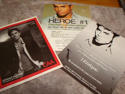 "ENRIQUE IGLESIAS 3 ads for hit HEROE, ""10 #1 Billboard Hot Latin Singles."""